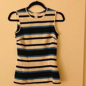 Dolce & Gabbana silk striped sleeveless blouse sz2